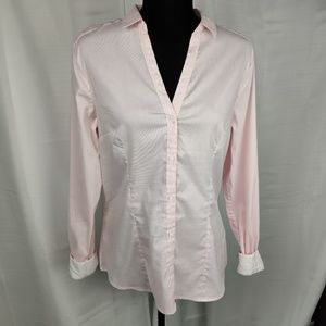 H&M Pink Long Sleeve Button Down Shirt